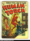 Golden Age (1938-1955):Superhero, The Human Torch #36 (Timely, 1954) Condition: FR. Atlas issue of the classic Timely character. Overstreet 2003 GD 2.0 value ...