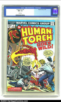 Human Torch, The #2 (Marvel, 1974) CGC NM+ 9.6 White pages. Wow, NM+ 9.6 and perfectly white pages. You'd be hard presse...
