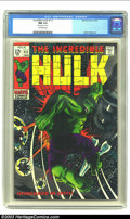Silver Age (1956-1969):Superhero, The Incredible Hulk #111 (Marvel, 1969) CGC NM 9.4 Off-white pages. This issue, with its dark black cover is very difficult ...