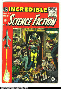 Incredible Science Fiction #32 (EC, 1955) Condition: VG+. Art by Williamson and Krenkel. Overstreet 2003 VG 4.0 value =...