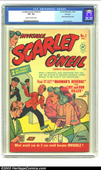 Invisible Scarlet O'Neil #1 File Copy (Harvey, 1950) CGC VF+ 8.6 Cream to off-white pages. Bob Powell art. Just a quarte...