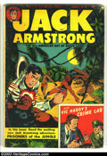 Golden Age (1938-1955):Adventure, Jack Armstrong #8 (Parents' Magazine Institute, 1948) Condition: VG-. Overstreet 2003 VG 4.0 value = $24....