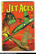 Golden Age (1938-1955):War, Jet Aces #1 (Fiction House, 1952) Condition: VG. Overstreet 2003 VG 4.0 value = $32....