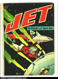 Jet Powers #1 (Magazine Enterprises, 1950) Condition: VG. Bob Powell cover and art. Overstreet 2003 VG 4.0 value = $68...