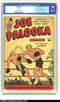 Golden Age (1938-1955):Adventure, Joe Palooka Comics #1 File Copy (Harvey, 1945) CGC VF- 7.5 Cream to off-white pages. Story behind Joe Palooka text piece; Jo...