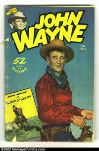 "John Wayne Adventure Comics #5 (Toby Publishing, 1950) Condition: GD. Includes a Harvey Kurtzman ""Pot Shot Pete&quo..."