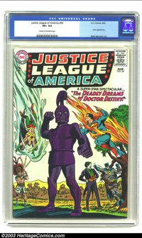 Justice League of America #34 (DC, 1965) CGC VF+ 8.5 Cream to off-white pages. The Joker appears on the cover, along wit...