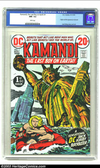 Kamandi, the Last Boy on Earth #1 (DC, 1972) CGC NM- 9.2 White pages. Origin and first appearance by Jack Kirby. Overstr...