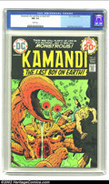 Bronze Age (1970-1979):Superhero, Kamandi, the Last Boy on Earth #21 (DC, 1974) CGC NM 9.4 White pages. Jack Kirby cover and art. Overstreet 2003 NM 9.4 value...
