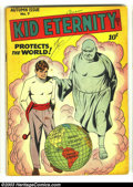 Golden Age (1938-1955):Superhero, Kid Eternity #7 (Quality, 1947) Condition: VG-. Golden Age classic. Overstreet 2003 VG 4.0 value = $50....