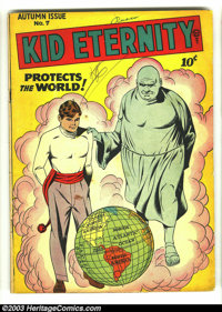 Kid Eternity #7 (Quality, 1947) Condition: VG-. Golden Age classic. Overstreet 2003 VG 4.0 value = $50
