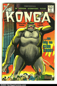 Konga #1 (Charlton, 1960) Condition: FN-. Based on the movie, Giordano cover. Overstreet 2003 FN 6.0 value = $75