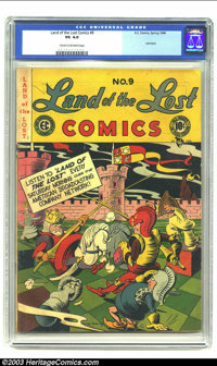 Land of the Lost #9 (EC, 1948) CGC VG 4.0 Cream to off-white pages. Rare last issue. Overstreet 2002 VG 4.0 value = $40...