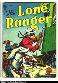 The Lone Ranger, The #8 (Dell, 1949) Condition: VG. Origin retold; Indian back covers begin with this issue. Overstreet...