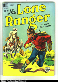 Lone Ranger, The #19 (Dell, 1950) Condition: FN-. Grey-tone cover. Overstreet 2003 FN 6.0 value = $39