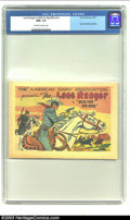 Golden Age (1938-1955):Western, Lone Ranger in Milk for Big Mike #nn (Dell, 1955) CGC NM+ 9.6 Off-white to white pages. Dairy Association giveaway. Overstre...