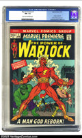 Silver Age (1956-1969):Superhero, Marvel Premiere #1 (Marvel, 1972) CGC NM- 9.2 Light tan to off-white pages. Origin of Warlock; origin Counter-Earth; Hulk an...