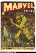 Pulps:Horror, Marvel Stories Vol. 2 #3 & Marvel Tales Vol. 1 #6 (Western Fiction Publishing, 1939 & 1941). Marvel Stories is VG- and the M... (Total: 2 items Item)
