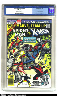 Marvel Team-Up Annual 1 (Marvel, 1976) CGC VF- 7.5 Off-white to white pages. Great undervalued squarebound Marvel Giant...