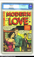 Modern Love #8 (EC, 1950) CGC VG 4.0 Cream to off-white pages. Al Feldstein and Jack Kamen artwork in this classic EC ro...