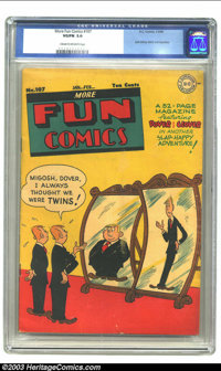 More Fun Comics #107 (DC, 1946) CGC VG/FN 5.0 Cream to off-white pages. Last Johnny Quick and Superboy. Overstreet 2003...