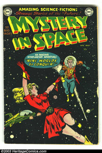 Mystery in Space #1 (DC, 1951) Condition: GD/VG. Cool, rarely seen first issue. Overstreet 2003 GD 2.0 value = $222; VG...