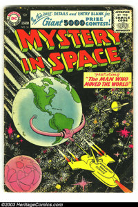 Mystery in Space #34 (DC, 1956) Condition: GD/VG. First Silver Age issue. Overstreet 2003 GD 2.0 value = $29; VG 4.0 val...