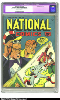 National Comics #28 (Quality, 1942) CGC Apparent FN/VF 7.0 Slight (A) Off-white to white pages. Al Gabriele cover. Very...