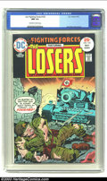 Bronze Age (1970-1979):War, Our Fighting Forces #155 (DC, 1975) CGC NM 9.4 Off-white to white pages. Jack Kirby cover and art on this war classic. Overs...