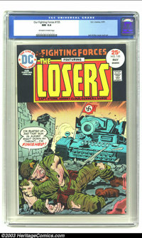 Our Fighting Forces #155 (DC, 1975) CGC NM 9.4 Off-white to white pages. Jack Kirby cover and art on this war classic. O...