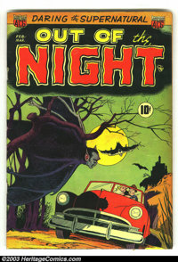 Out of the Night #1 (ACG, 1952) Condition: VG+. Rarely seen first issue. Al Williamson artwork. Really cool ACG Pre-code...