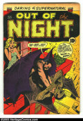 Golden Age (1938-1955):Horror, Out of the Night #9 (ACG, 1953) Condition: FN. Really cool ACGPre-code horror comic. Overstreet 2003 FN 6.0 value = $84....