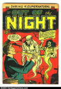 Golden Age (1938-1955):Horror, Out of the Night #12 (ACG, 1953) Condition: FN-. Really cool ACGPre-code horror comic. Overstreet 2003 FN 6.0 value = $66....