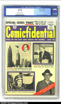 Panic #9 Gaines File pedigree 4/12 (EC, 1955) CGC VF+ 8.5 Off-white to white pages. During ECs final days, they were rea...