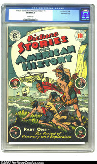 Picture Stories From American History #1 Gaines File pedigree (EC, 1946) CGC VF/NM 9.0 Off-white pages. First issue of t...