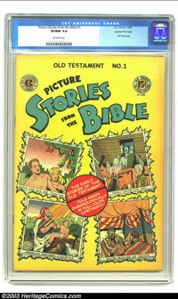 Picture Stories from the Bible Gaines File Pedigree Old Testament 1 (EC, 1946) CGC VF/NM 9.0 Off-white pages. Beautiful...