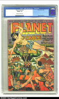 Golden Age (1938-1955):Science Fiction, Planet Comics #31 (Fiction House, 1944) CGC FN/VF 7.0 Off-white to white pages. Beautiful cover art, plus interior art by Gr...
