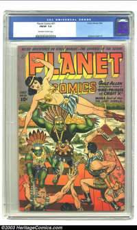 Planet Comics #31 (Fiction House, 1944) CGC FN/VF 7.0 Off-white to white pages. Beautiful cover art, plus interior art b...
