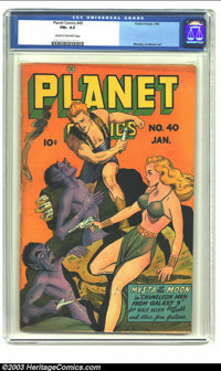 Planet Comics #40 (Fiction House, 1946) CGC FN+ 6.5 Cream to off-white pages. Features Mysta of the Moon; Gale Allen; Mu...