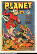 Golden Age (1938-1955):Science Fiction, Planet Comics #55 (Fiction House, 1948) Condition: GD/VG. MattBaker, George Evans artwork. Overstreet 2003 GD 2.0 value = $...