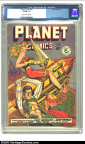 Golden Age (1938-1955):Science Fiction, Planet Comics #58 (Fiction House, 1949) CGC VG/FN 5.0 Cream to off-white pages. Hunt Bowman in Lost World; Mysta of the Moon...