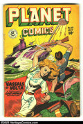 Golden Age (1938-1955):Science Fiction, Planet Comics #60 (Fiction House, 1949) Condition: VG. Overstreet2003 VG 4.0 value = $122....