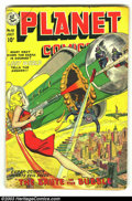 Golden Age (1938-1955):Science Fiction, Planet Comics #61 (Fiction House, 1949) Condition: VG. Barefootgirl cover. Overstreet 2003 VG 4.0 value = $96....