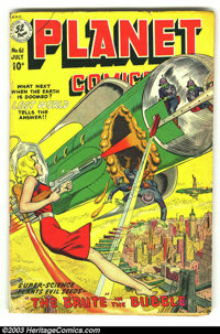 Planet Comics #61 (Fiction House, 1949) Condition: VG. Barefoot girl cover. Overstreet 2003 VG 4.0 value = $96