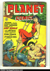 Planet Comics #62 (Fiction House, 1949) Condition: VG. Overstreet 2003 VG 4.0 value = $96