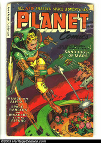 Planet Comics #71 (Fiction House, 1953) Condition: GD+. Space Rangers strip. Overstreet 2003 GD 2.0 value = $39