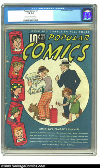 Popular Comics #7 (Dell, 1936) CGC VG 4.0 Cream to off-white pages. Features Dick Tracy, Gasoline Alley, Harold Teen, Li...