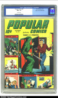 Golden Age (1938-1955):Adventure, Popular Comics #94 Mile High pedigree (Dell, 1943) CGC NM+ 9.6 Off-white pages. Smilin' Jack, Smokey Stover, Doctor Bobbs, P...