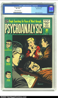 Psychoanalysis #4 Gaines File pedigree 6/12 (EC, 1955) CGC VF+ 8.5 Cream to off-white pages. Classic Jack Kamen cover an...