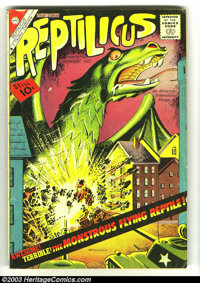 Reptilicus #1 and #2 (Charlton, 1961) Condition: VG+. The only two issues under this title (becomes Reptisaurus with iss...